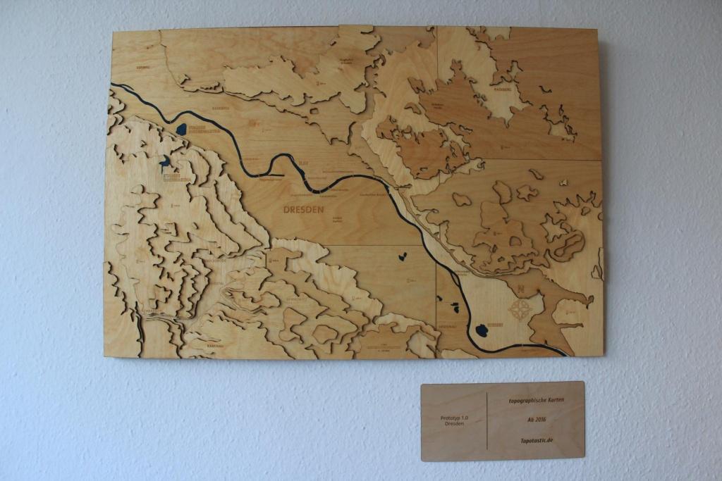 Topographische Karte lasercut