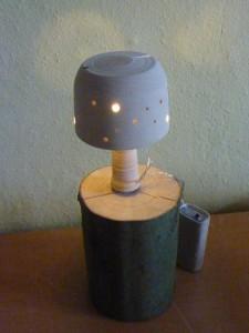 Gedrechselte Lampe