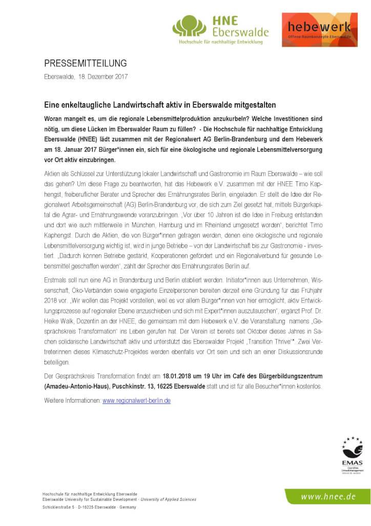 Regionalwert Ag Berlin Brandenburg Eine Enkeltaugliche